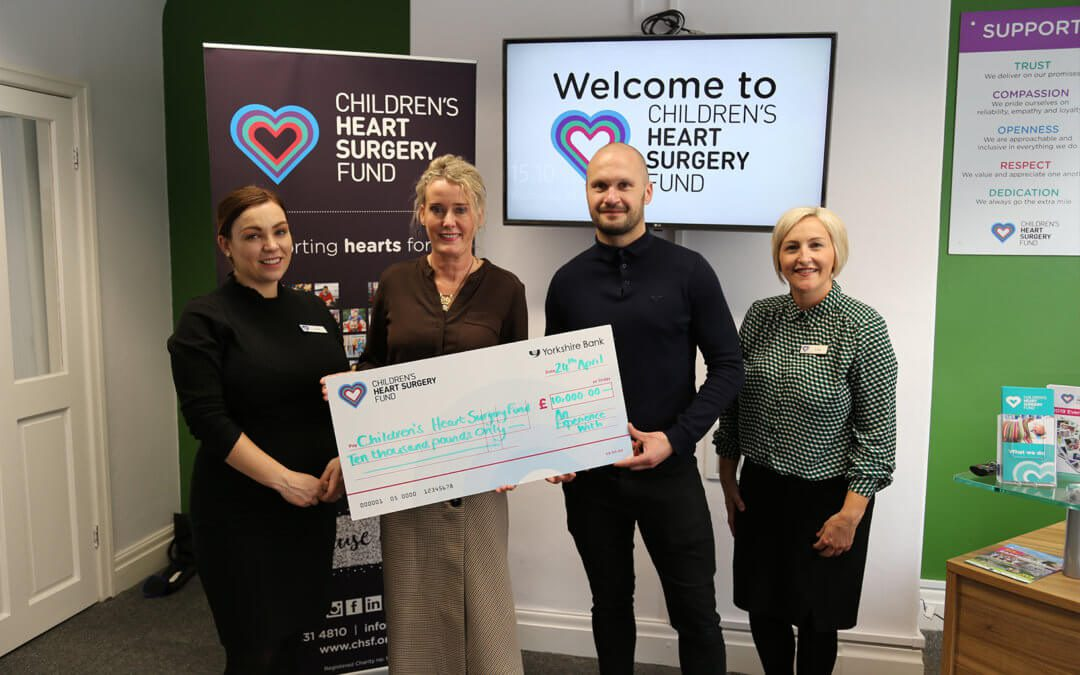 """An Experience With"" donate £10,000 to Children's Heart Surgery Fund"