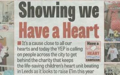 "Yorkshire Evening Post say ""Have a Heart"" for CHSF"