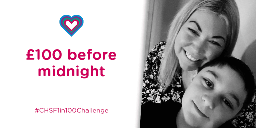 #CHSF1in100Challenge: £100 before midnight