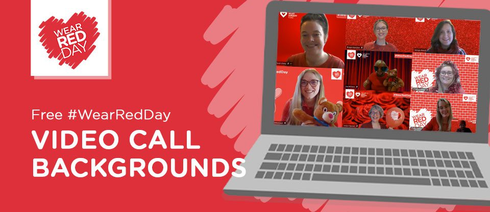 WEAR RED DAY: Free video call backgrounds