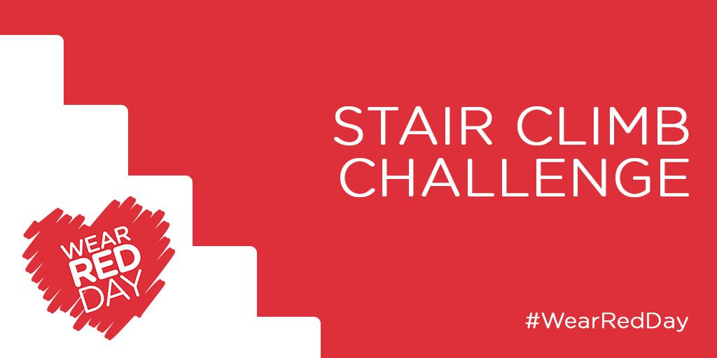WEAR RED DAY: Stair Climb Challenge