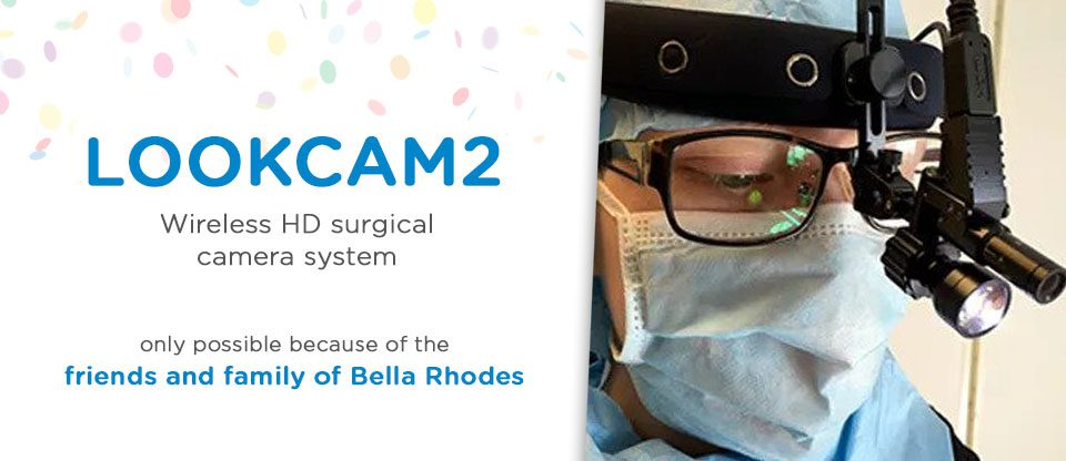 NEW HD HEAD CAMERA FOR SURGEONS THANKS TO RHODES FAMILY