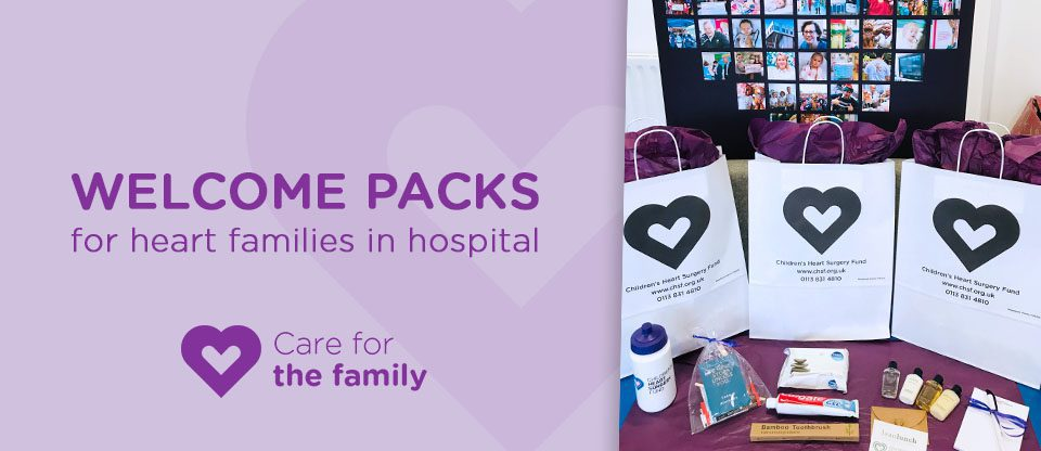 WELCOME PACKS FOR HEART FAMILIES