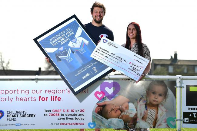 Rugby ace helps raise almost £10K for CHSF