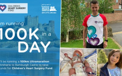 CHSF Chair's ultramarathon fundraiser for hospital heart unit which saved his daughter's life