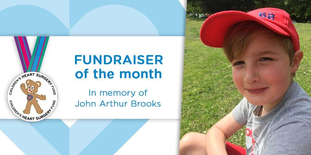 Fundraiser of the Month: In memory of John Arthur Brooks